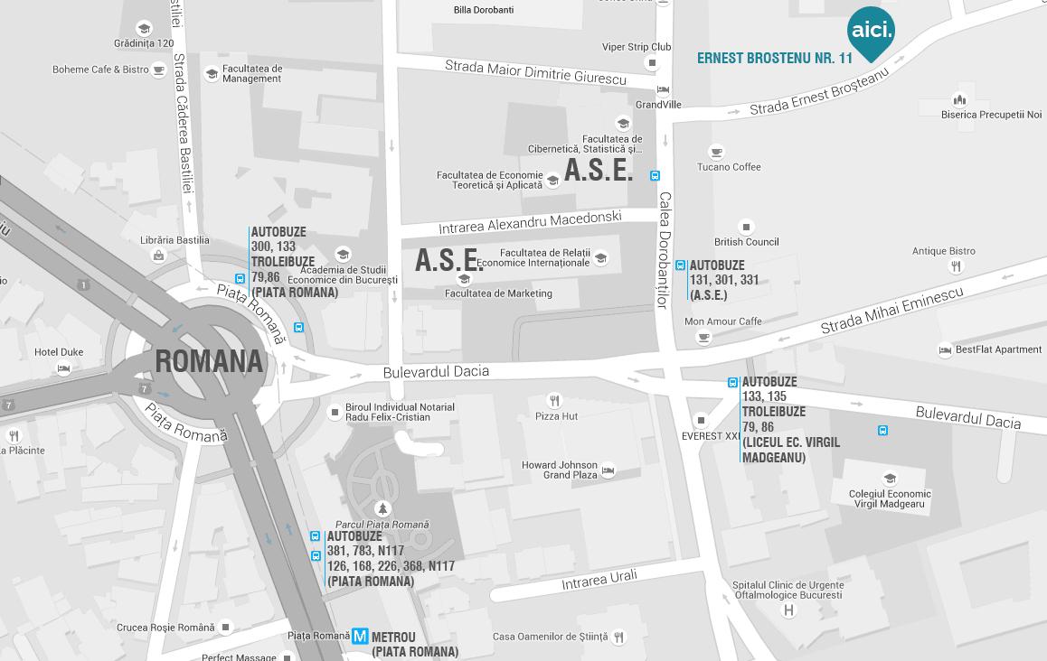 Harta Reflex Architecture SRL Bucuresti